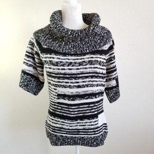 White House Black Market Striped Cowl Neck Sweater